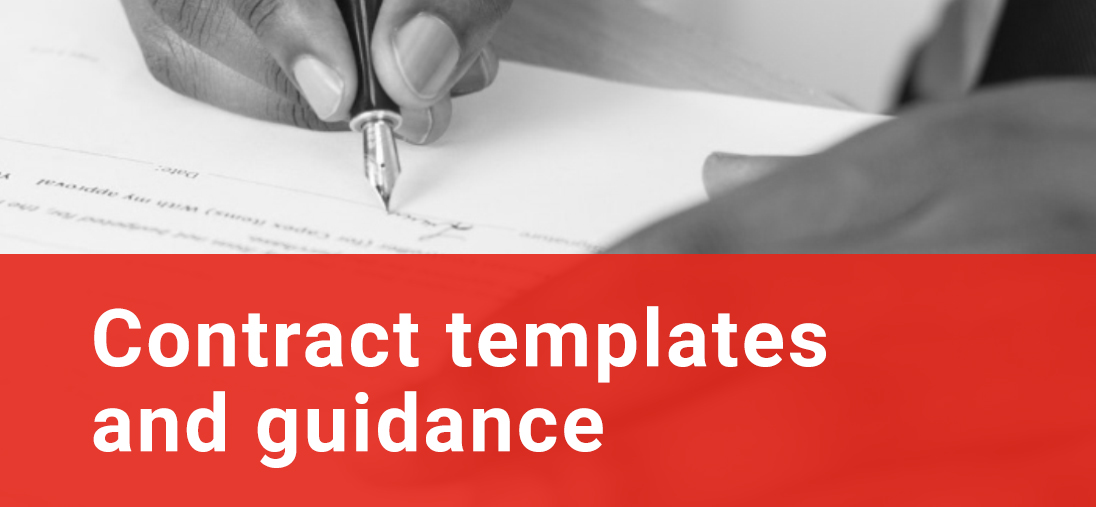 Contract Templates and guidance