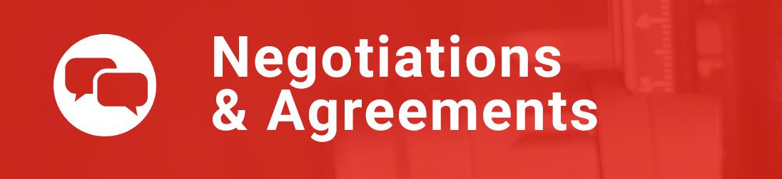 Link box: Negotiations & Agreements