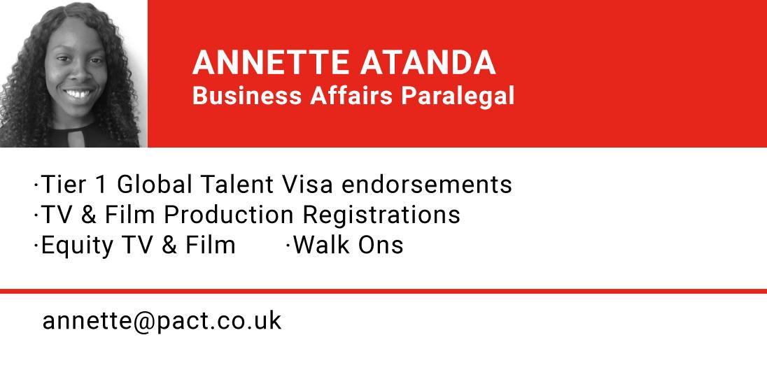ANNETTE ATANDA, Business Affairs Paralegal