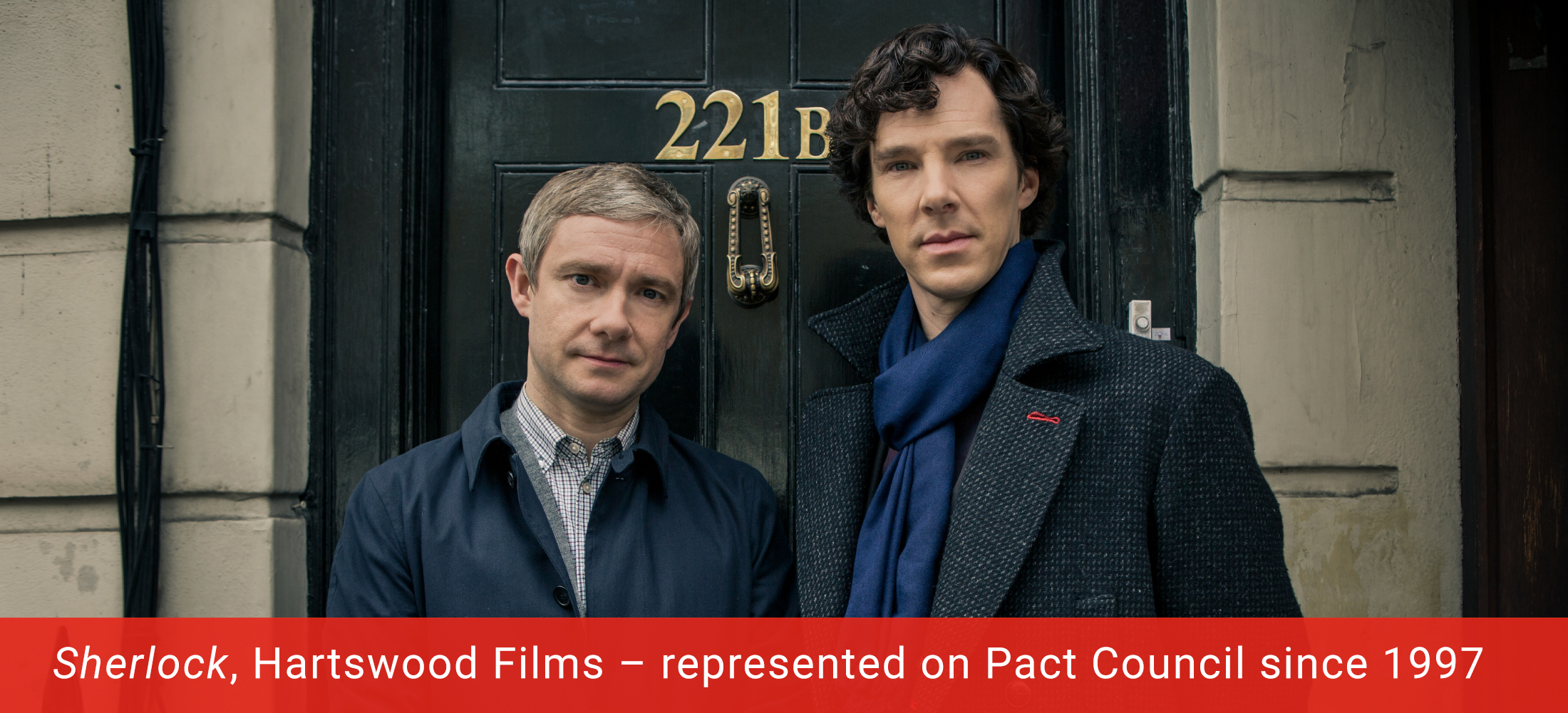 Programme image: Sherlock produced by Pact Member Hartswood Films