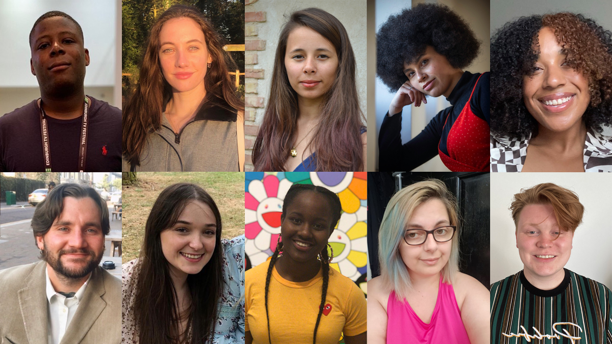 Headshot montage: of 10 of the 11 Indie Diversity Scheme participants