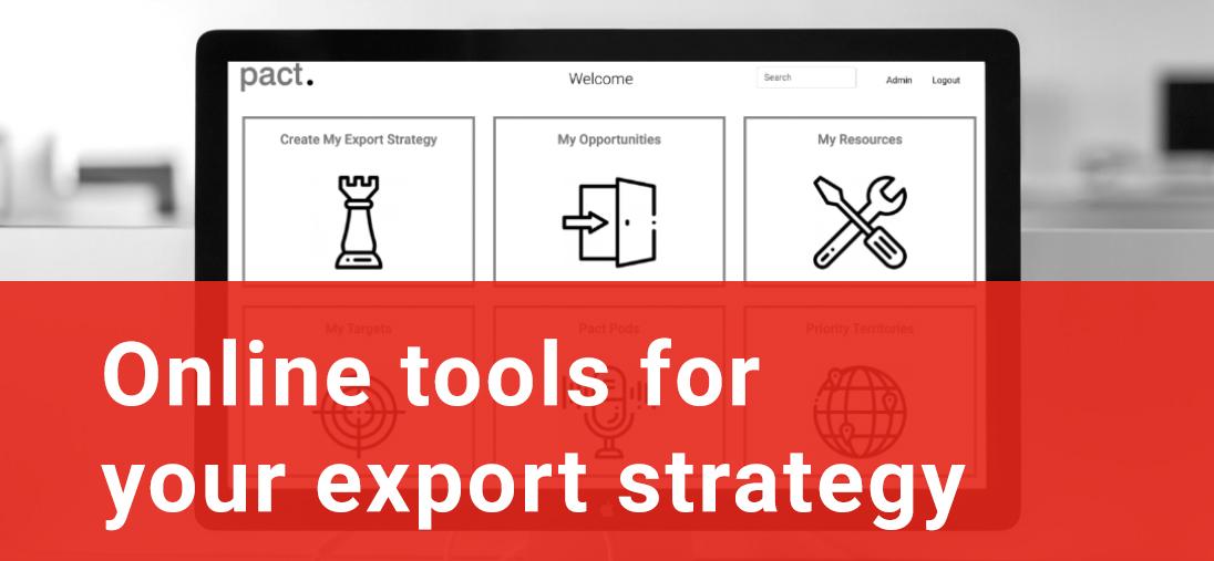 Online export strategy tools