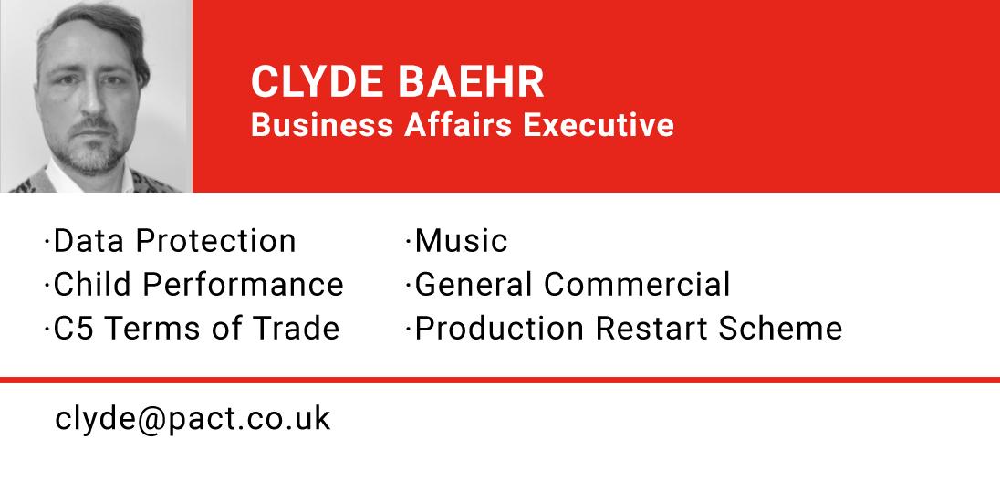 CLYDE BAEHR, Business Affairs Executive